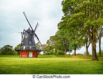 The windmill at Kastellet in Copenhagen. - The Dutch type...