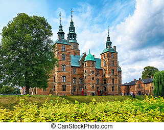 Rosenborg Castle in Copenhagen. - Rosenborg Castle in...