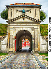The King's Gate of Kastellet fortresses in Copenhagen. - The...