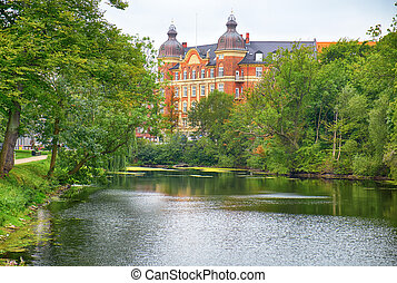 The corner of Gronningen and Esplanaden viewed from...
