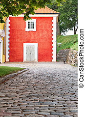 The prison adjacent to the church in Kastellet, Copenhagen....