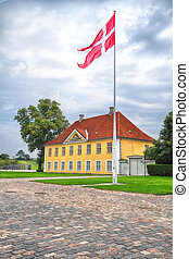 The Commander's House in Kastellet, Copenhagen. - The...