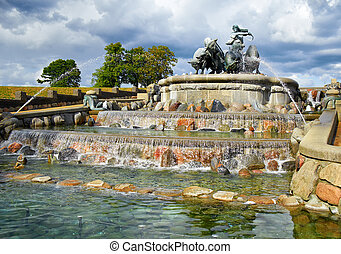 The Gefion Fountain, Copenhagen. - The Gefion Fountain in...