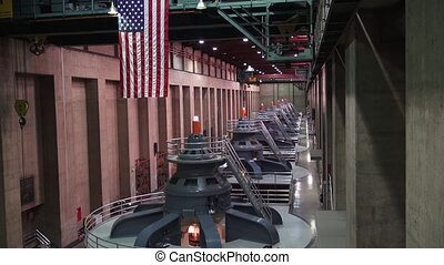 Hoover Dam - Footage of the facilities at the Hoover Dam.
