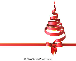 Christmas tree bow - Very high resolution 3d rendering of a...