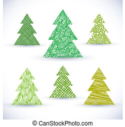 Christmass tree vector set