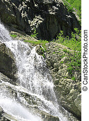 Alibek Waterfall. Dombay Mountains. The Northern Caucas