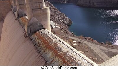 Hoover Dam - Exterior - Exterior footage of water and the...