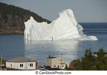 North Atlantic Iceberg - A large iceberg drifts into the...