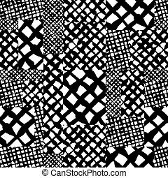 Hand drawn lines textures messy seamless pattern, vector...