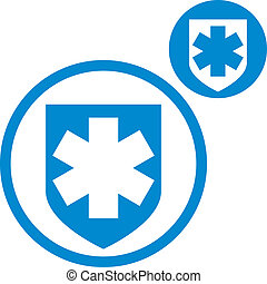 Medical insurance vector simple single color icon isolated...
