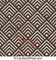 Vintage geometric seamless pattern, vector repeat background...