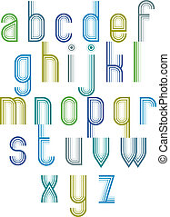 Inner Echo striped retro 70rsquo;s style font - Inner Echo...
