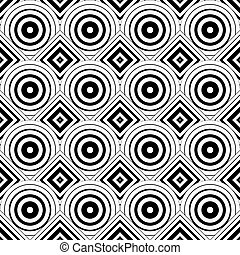 Seamless geometric background, simple black and white stripes ve
