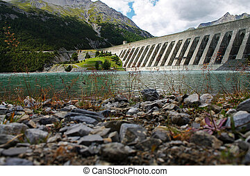 Cancano Dam, Alpes, Italy
