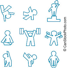 fitness icons - isolated vector icon set of fitness - sports...