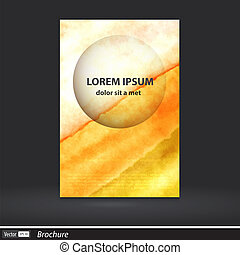 Abstract artistic brochure of bright colors