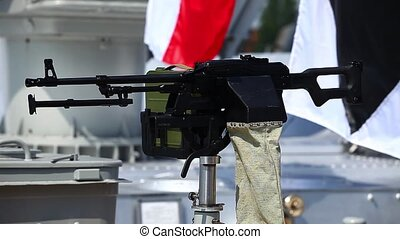 Kalashnikov machine gun deadly weap - machine gun on a...