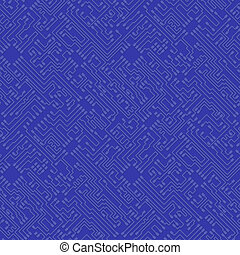 Microchip abstract vector blue background - high tech...