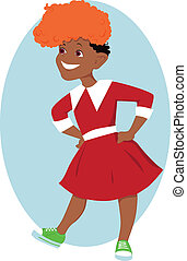 Orphan Annie - Little black girl in Orphan Annie costume and...
