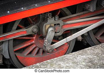 Wheels of a Vintage Steam Train