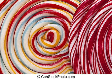Swirly lollipop background