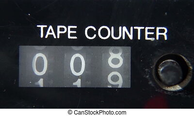 Mechanical counter tape