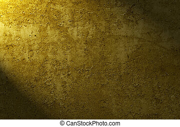 Grunge background - old grunge texture of yellow wall close...