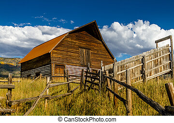 Fall in Steamboat Springs Colorado - Historic Moore Barn in...