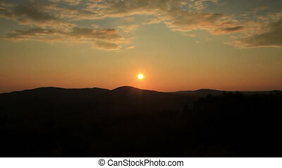 Maine USA sunset over mountains - Maine sunset over...