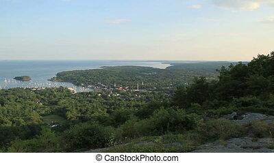 Stadt,  USA, landschaftlich, klein,  Maine, Ansicht