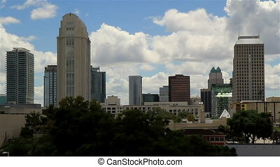 Orlando Fl Skyline Time lapse Four - Orlando Fl Skyline Time...