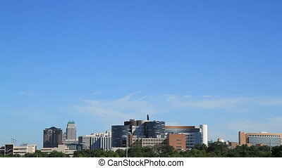 Orlando FL Sky Line time lapse two - Orlando FL City Sky...