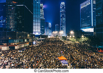Pro-democracy, PROTESTA, Hong, Kong, 2014