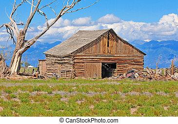 Vintage Barn on farm in America