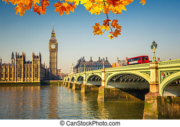 Big Ben and Houses of parliament, London - Big Ben and...