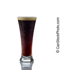 alto, vidrio, llenado, frío, Oscuridad, cerveza