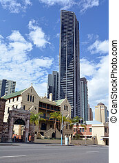 Brisbane Skyline - Soleil tower - BRISBANE, AUS - SEP 25...