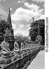 Thai Monk - The Thai Monk at Wat Yai Chaimongkol Ayutdhaya
