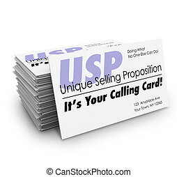USP Unique Selling Proposition Your Calling Business Card...