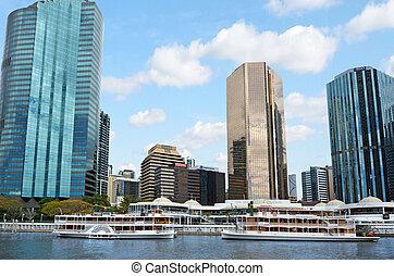 Eagle Street Pier in Brisbane - BRISBANE, AUS - SEP 25...