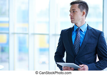 White collar worker - Handsome and elegant businessman with...