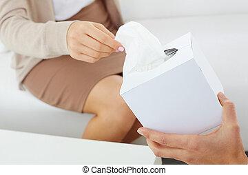 Dar, papel, tejidos