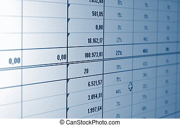 business data - business statistics and data showing...
