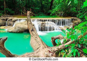 water fall, kanchanaburi thailand - water fall, kanchanaburi...
