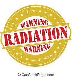 Warning radiation - Stamp with text warning radiation...