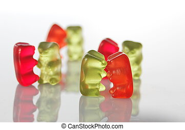 gummy bears dancing at a party - sweet gummy bears dancing...