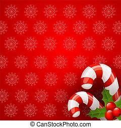 クリスマス, キャンデー, 杖, 背景
