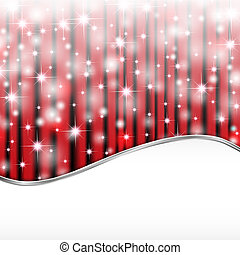 Starry lights on red background