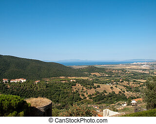 Elba Island - The view on the island Elba from Scarlino in...